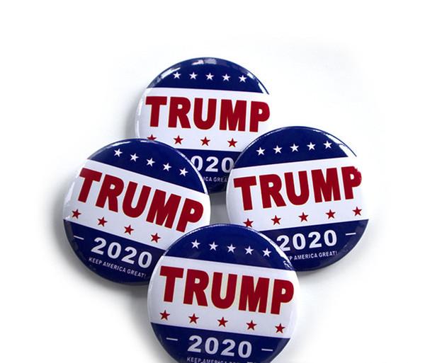 NUEVO Trump metal Placa 2020 Hojalata pernos América del presidente republicano Campaña Política broche broches joyas Escudo regalos Epacket