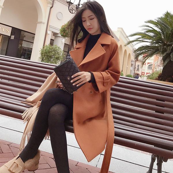 Mishow 2019 Herbst und Winter Wollmantel weiblichen Mid-langen neuer koreanisches Temperament der Frauen populärer Wollmantel MX17D9636 T190923