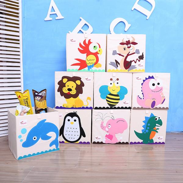 New 3D toy storage Box Cartoon Animal Folding Storage Bins Wardrobe drawer organizer clothes storage basket kids toys