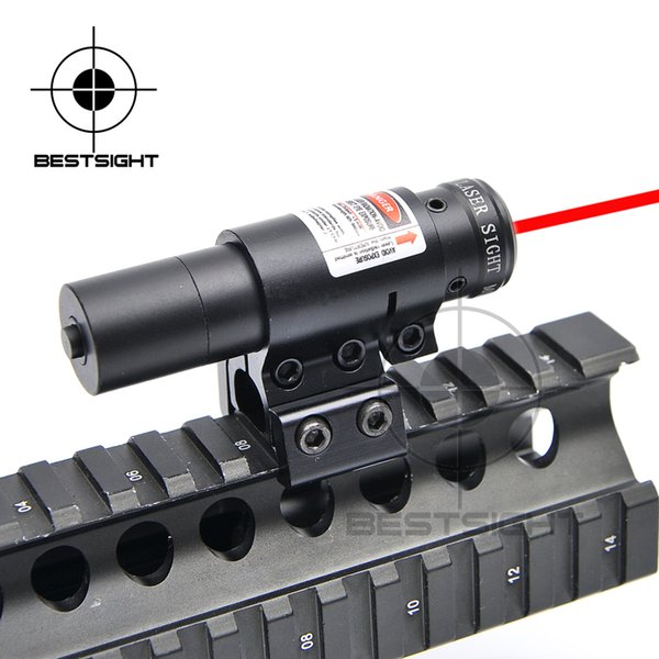 Tactical Noite Hunting Lanterna Laser Red Dot Airsoft Compact ajustável Red / Green Dot mira a laser Airsoft Sniper Rifle