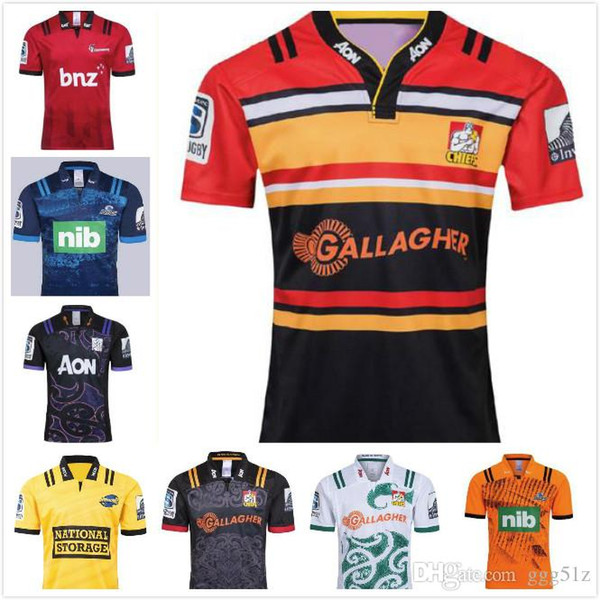Новый 2019 2020 года Chiefs Super Rugby Jersey Новая Зеландия супер взрослый мужчина Chiefs Blues Hurricanes Crusaders Highlanders 2019 Рубашки для регби