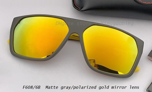 lente gris mate / oro polarizado espejo