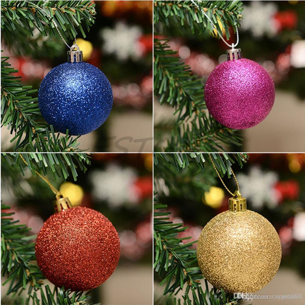 24pcs/lot Merry Christmas decor Ball bauble Xmas Tree Decoration Hanging Drops home Party New Year Ornaments ball for trees