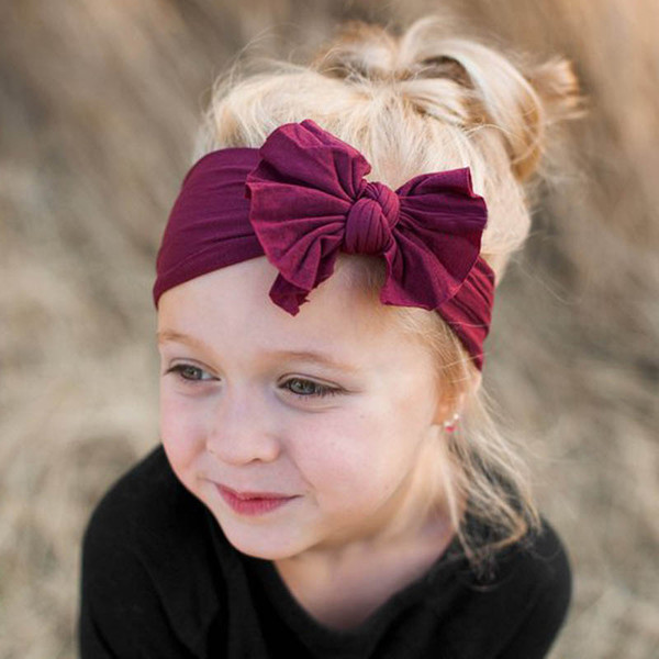 Nylon bébé bandeaux arcs designer bandeau nouveau-né bandeaux designer accessoires de cheveux de concepteur pour enfants bandes de cheveux bébé accessoires A6298