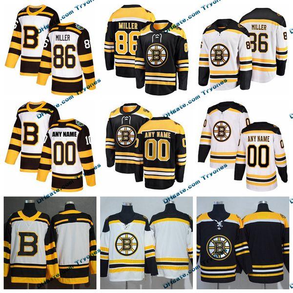 2019 Winter Classic Boston Bruins Kevan Miller Mens Stitched Jerseys Customize Home Black Shirts 86 Kevan Miller Hockey Jerseys S-XXXL