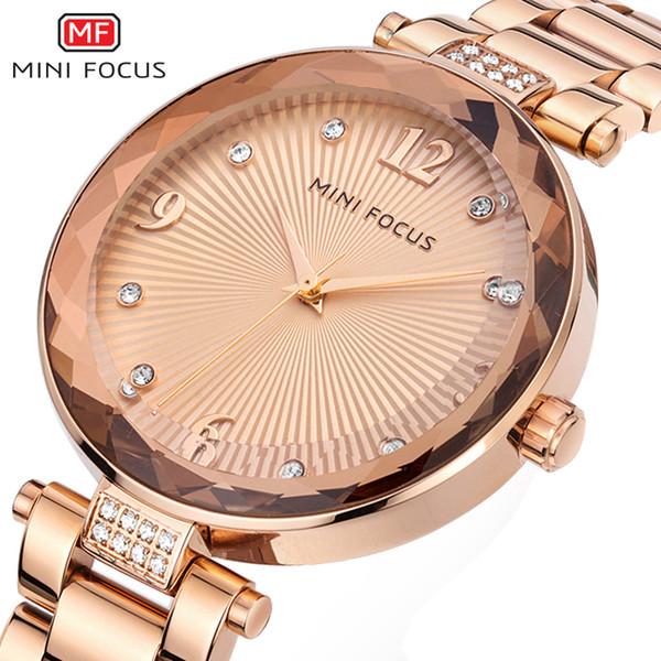 Minifocus Ladys Relógio de Luxo das Mulheres Relógios De Pulso Moda Casual Mulheres Relógios de Quartzo À Prova D 'Água Relogio feminino Montre Femme Y19062703