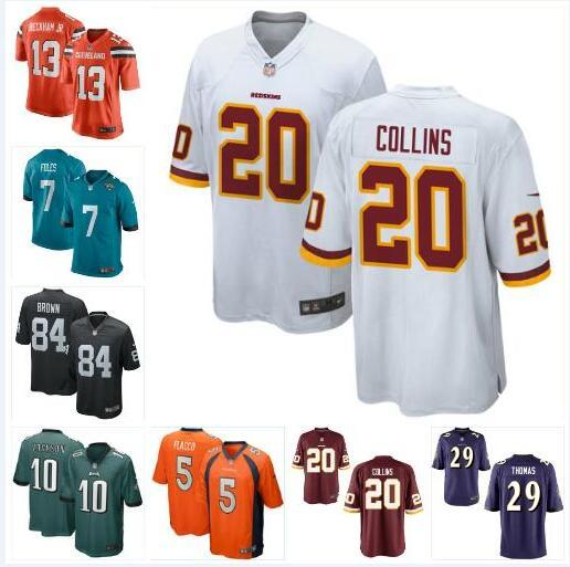 new style 6d50f 18598 2019 Landon Collins Nick Foles Jersey Redskins Eagles Odell Beckham Jr  Antonio Brown Joe Flacco DeSean Jackson Tyrann Mathieu Jerseys Stitched  From ...