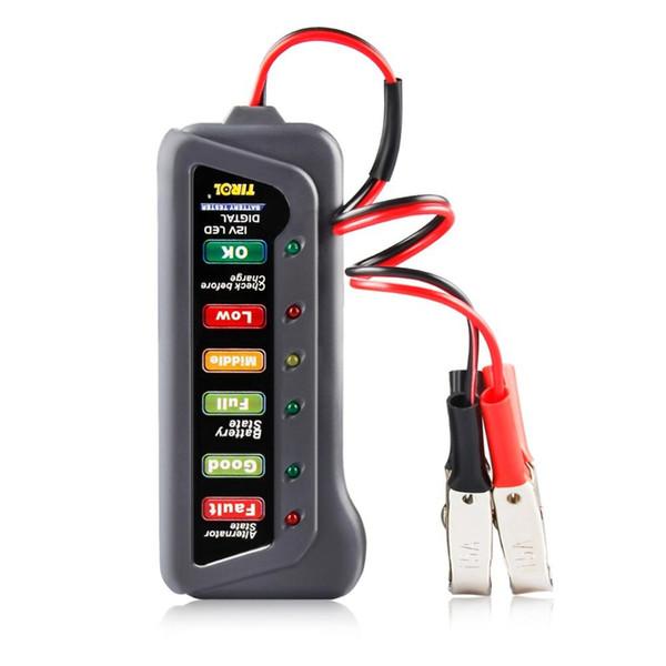 Tester Capacità 12V della batteria del tester digitale Checker 12 volt della batteria di misura di potenza Analyzer Tool con 6 LED display