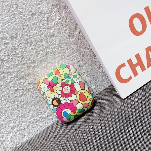 Mytoto Tournesol Fleur Floral Écouteur Casque Accessoires PC Etui de protection Pour Apple Airpods 1/2 Sans Fil Bluetooth Casque Sac