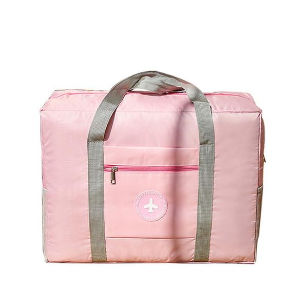 Adisputent Waterproof Nylon Travel Bags Women Men Large Capacity Folding Duffle Bag Organizer Packing Cubes Luggage Weekend Bag