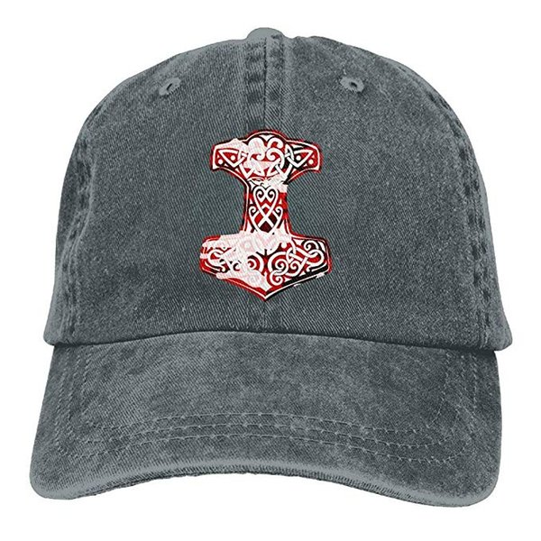 2019 Новый Оптовая Бейсболки Печати Шляпа Высокие Мужские Хлопок Промывают Саржа Бейсболка Viking Hammer Norse Hat