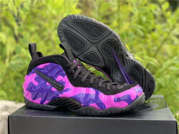 2019 New Foam One Sparpie Tiger Stripes Penny Hardaway Zapatillas de baloncesto para alta calidad Purple Camouflage Spray Foams Zapatillas deportivas para hombre