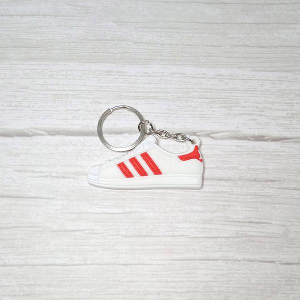 Zapatos de silicona superestrellas llavero llavero zapatilla de deporte titular de la llave mujer hombres bolsa accesorios del encanto llaveros colgante