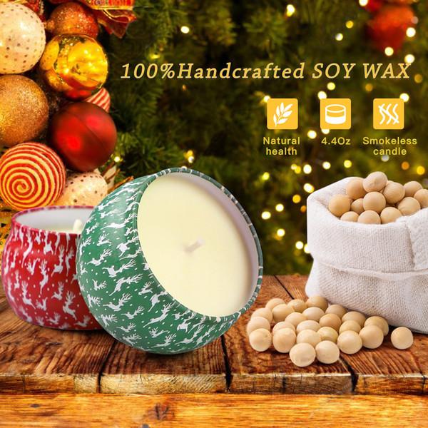 Vela do Natal Aroma Festa Casamento Casa 60sets Novo Design Perfumado Natal Velas Decoração de Papai Noel Cone Snowman velas sem fumaça