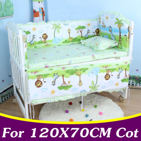 5PCS/set 120x70cm Infant Baby Bedding Set For Girl Boys Bedding Set Kids Baby Bed Bumper Crib Bumper Cot CP02