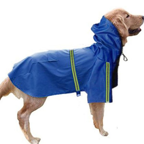 Five color waterproof dog coat Jacket Raincoat for dogs reflective dog raincoat clothes for small medium large dogs size S-5XL
