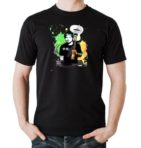 Ed Urban T-Shirt Schwarzer Ed Sheeran, Sänger, Texter und Komponist, Halifax, England, Herren Damen Unisex Fashion T-Shirt Freies Verschiffen