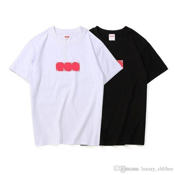 Marca Tshirt Estate Mens Designer Cotton T Shirts 19ss Fashion Printed lettera T-shirt uomo donna Coppia Hip Hop Top comfort magliette