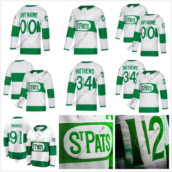 Custom 91 Tavares S-6XL Maillot Maple Leafs 2019 Toronto St. Pats 34 Matthews 16 Marner 24 Kapanen Maillot de hockey Rielly 44 Hommes Femmes Jeunes