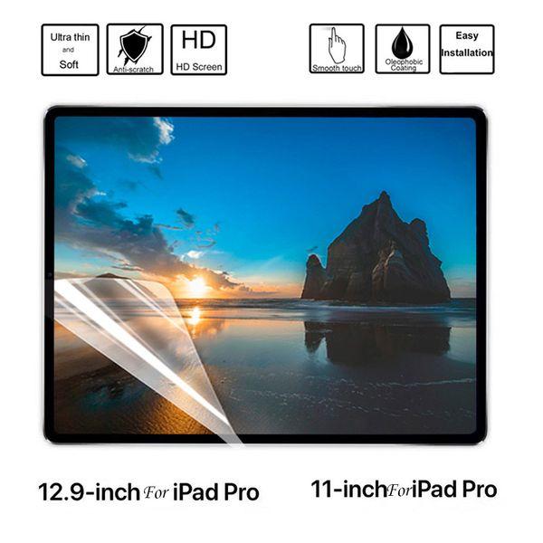 GOOYIYO - 2PCS/Lot Tablet Screen Film High Clear Anti-scratch Soft PET Protector For iPad Pro 12.9 Pro 11 2018 iPad 9.7 Mini 7.9