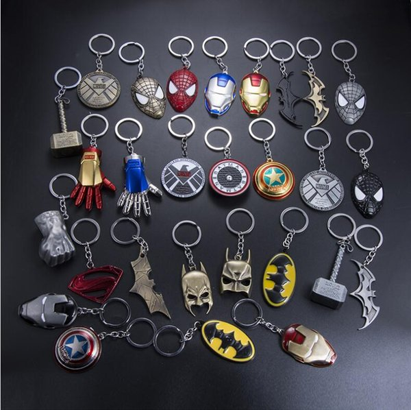 20 pieces/lot, Animation movie Hero equipment Alloy Pendant Key chains automobile Key Ring Iron Man Mask Animation cartoon Accessories gift