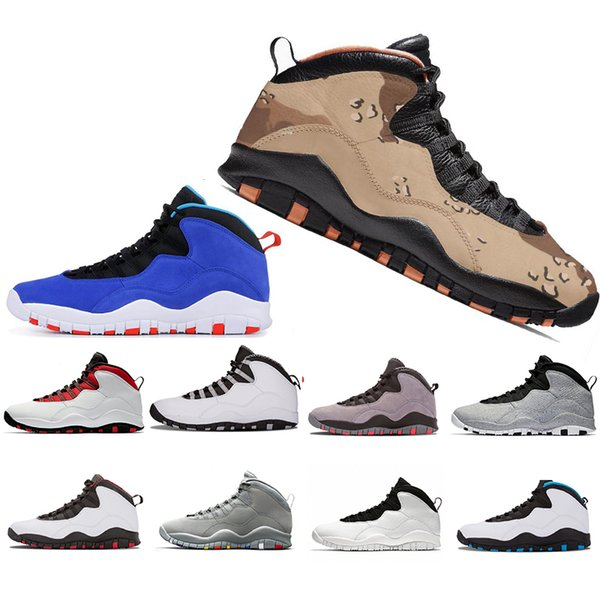Cheaper New Desert Camo Tinker 10 10s Basketball Shoes 2019 Westbrook Cement Designer Shoe Men Cool Grey Fusion Red Mens Sports Sneakers