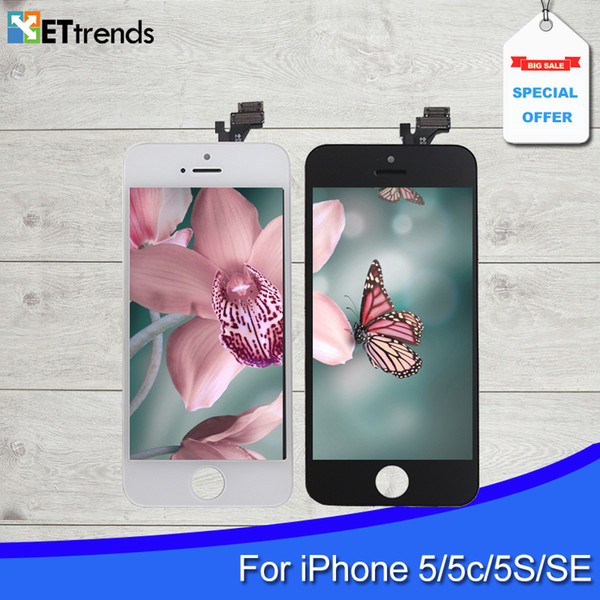 LCD Screen for iPhone 5S SE LCD Touch Digitizer Cold Press Frame Assembly No Dead Pixel DHL Free shipping