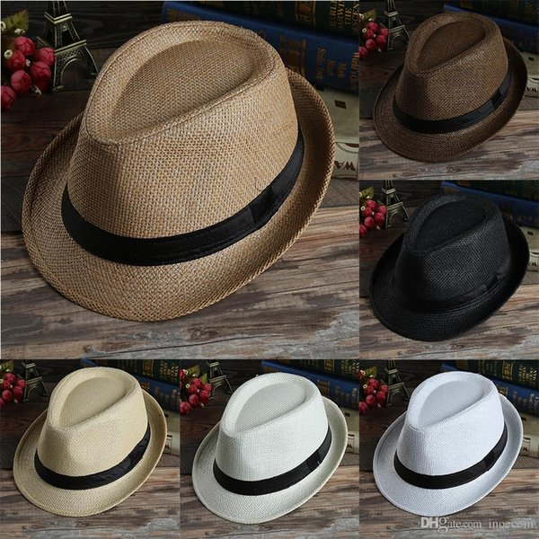 2019 SıCAK Kadınlar Yaz Şapka Plaj Hasır Şapka Panama Bayanlar Kap Moda El Yapımı Rahat Düz Ağız Güneş Şapka Kadınlar için UV Koruma