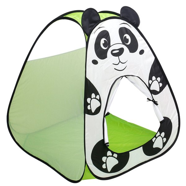 Portable Foldable Play Tents Ocean Ball Pit Pool Game House Cartoon Panda Play Tent Indoor Outdoor Toys For Children Kids