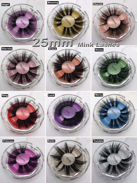 NOVA 25mm 5D Mink Cílios 12 Estilos 3D Cílios Postiços Quente Natural Longo Mink Eye Lashes Maquiagem Dos Olhos de Alta Volume Cílios Macios