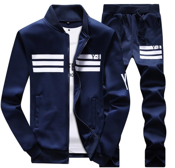 Men Sportswear Hoodie And Sweatshirts Black White Autumn Winter Jogger Sporting Suit Mens Sweat Suits Tracksuits Set Plus Size M-4XL