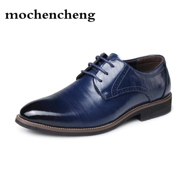 Hommes En Cuir Véritable Chaussures Casual Plat Classique Hommes Robe Wingtip Sculpté Italien Formal Oxford Grande Taille 38-48 Chaussures De Business
