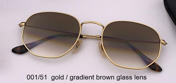 001/51 الذهب / التدرج عدسة الزجاج البني
