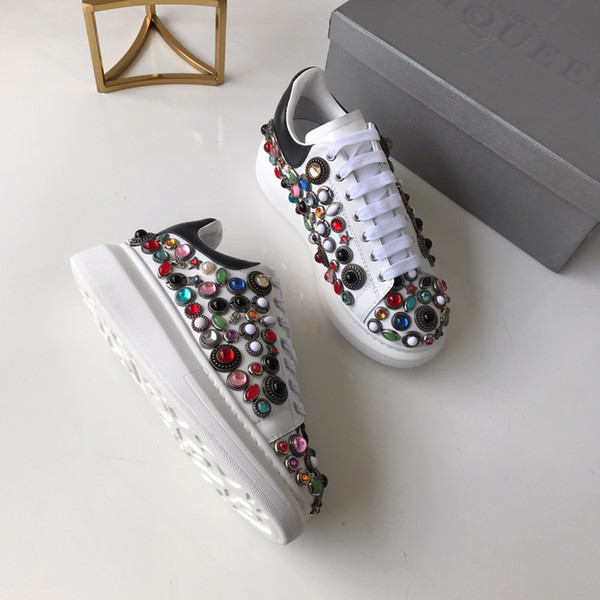 2019 luxe off High quality Best white summer new recommended women's sport s shoes fabric with original leather Size 35-40