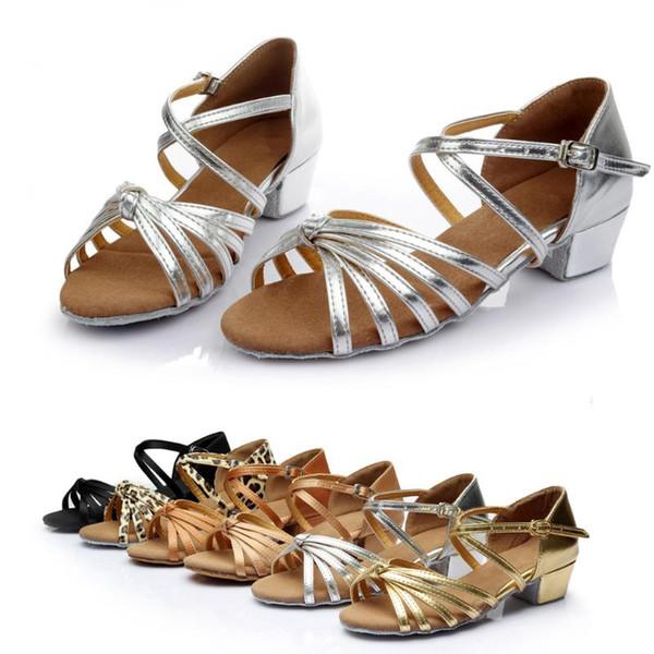 Mode féminine Waltz sandales de danse Rumba bal Salle de bal chaussures de danse latine Sandales pour la fête officielle #