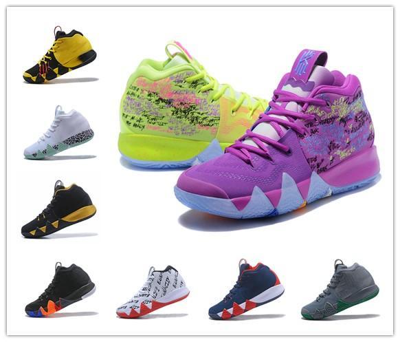 2019 vendita di notizie Irving 4 Scarpe da basket da uomo Scarpe firmate Multicolore Kyries IV Outdoor Casual Sports Sneaker Taglia EUR40-46