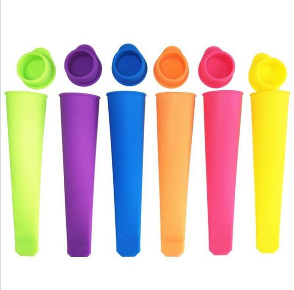 Silicone Ice Pop Mold Popsicles Mould with Lid DIY Ice Cream Makers Push Up Ice Cream Colorful Jelly DIY kid Popsicle Tools -Z085