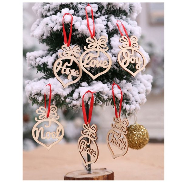 Christmas Decorations Wooden Hollow Ornaments Christmas Tree Pendants Home Garden Festive Party Supplies Outdoor Christmas Decorating Outdoor