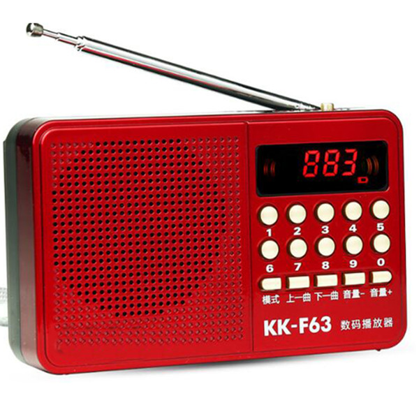 REDAMIGO Mini FM Radio Speaker Music Player Digital Radio fm Micro SD/TF USB Disk Mp3 LCD Display Internet Kk-63