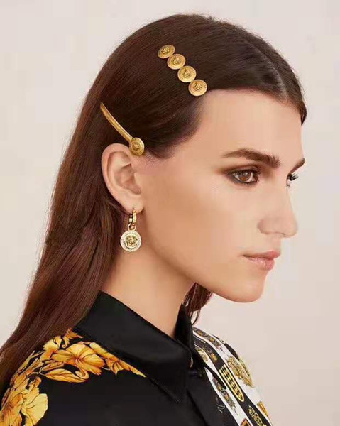 top popular High quality18K plated classical luxury designer jewelry women earrings and Hair clip for women fashion jewelry free shipping 2019