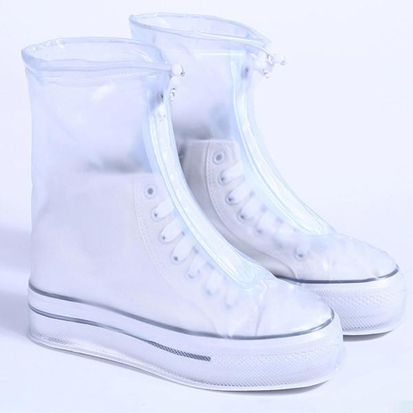 Cubierta impermeable para zapatos Antideslizante Suela de goma Galoshes Lluvia reutilizable Cubierta de bota de nieve para hombres, mujeres