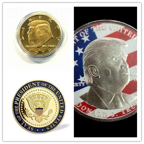 best selling Hot 2020 Trump Gold Silver Coin USA President Make America Great Again commemorative coins America General Election Craft Souvenir Toy E3409