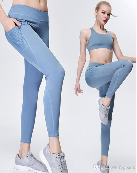 Hohe qualität 2019 neue sport leggings dünne yoga hosen frauen hohlnähen lange hosen frühling herbst qf
