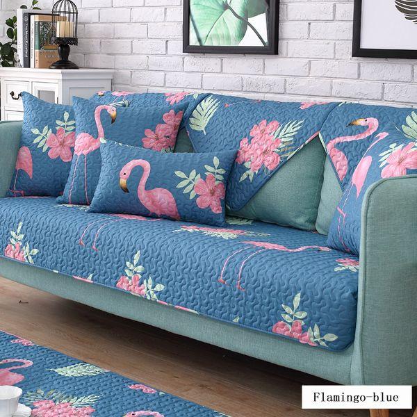 Cuscini Per Divano Blu.Acquista Tema Flamingo Cuscino Divano In Cotone Blu Four Seasons