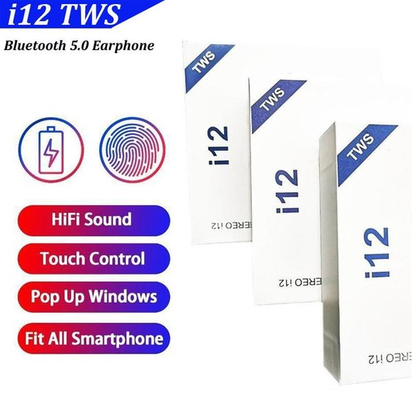 I12 tw wirele bluetooth headphone tereo 5 0 upport pop up window earphone touch control wirele head et earbud for martphone