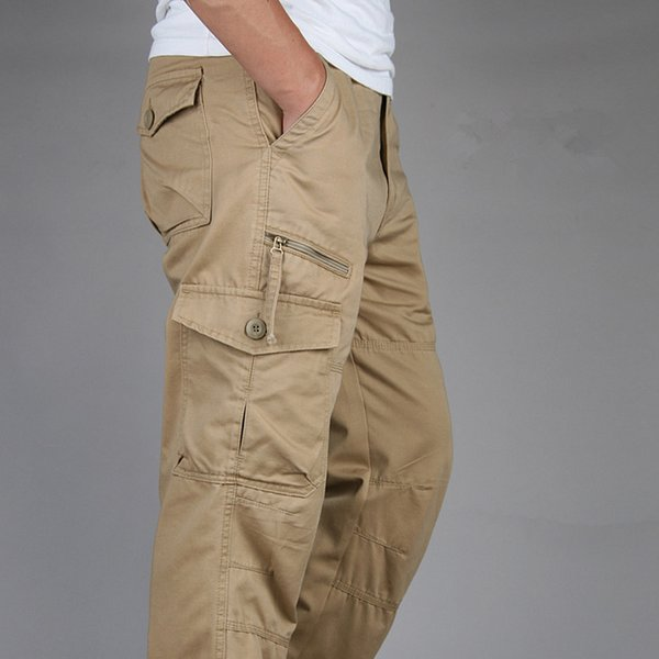 ICPANS Tactical Pants Men Military Army Black Cotton ix9 Zipper Streetwear Autumn Overalls Cargo Pants Men military style 2019MX190903