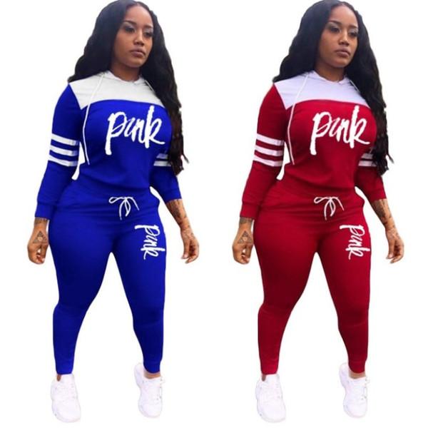 manicotto lungo delle donne rifornisce 2 piece pantaloni camicia set tuta felpata pareggiare sportsuit felpa pantaloni sportivi collant klw caldo 3104