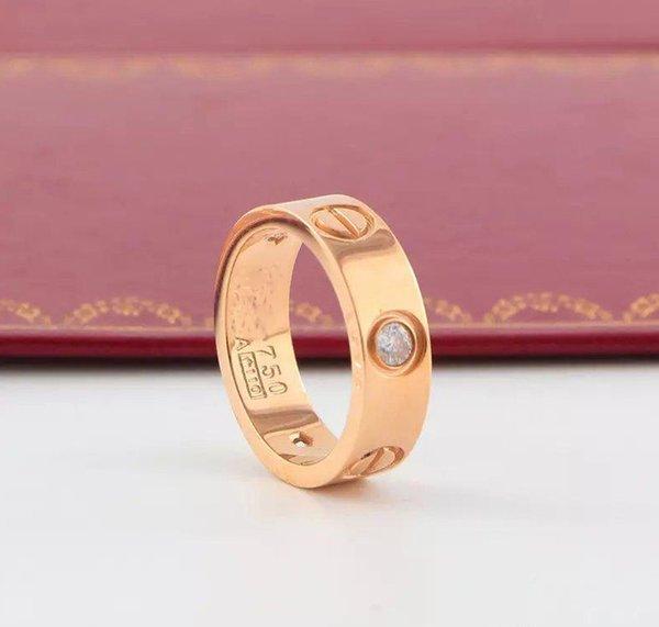 Oro rosa 6mm con pietra