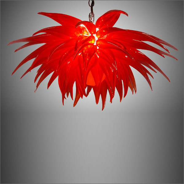 elegant tiffany stained mouth blown glass chandeliers hanging led flower designed pendant lamps for home and l
