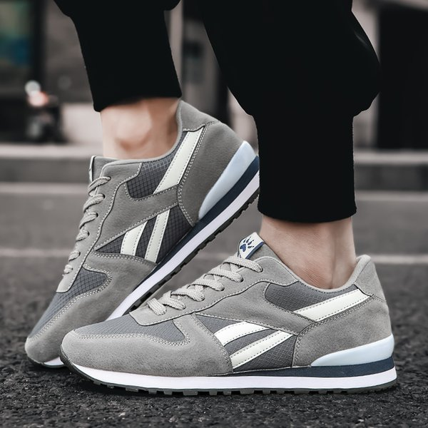 2020 New Men's Sneakers Breathable Cheap Running Shoes Women Sport Shoes Light Leather Sneakers Casual Flats Trail Running Shoes